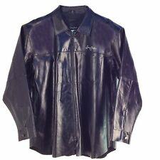 Sean John Leather Shirt, Black, XL WARRIOR L03112