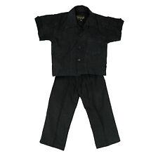 INFANTIL NEGRO FORRADO/Rayón Set Camisa con BOLSILLO & Pantalones Talla 12meses