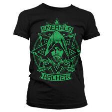 T-shirt FEMME Noir ARROW Taille S M L Girlie TS NEUF haut top série télé TV