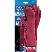 Gummihandschuhe 5 Paar Handschuhe Chemie Schutzhandschuhe ROT Gr. S-XL NEU OVP