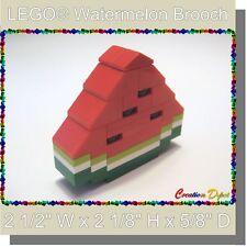BrickCrafts LEGO® Fashion Jewelry Small Juicy Watermelon Brooch Pin