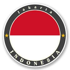 2 x Indonesia Vinyl Stickers iPad Laptop Travel Gift Luggage Map Flag Fun #5632