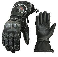 EVO Professional Leather Motorbike Motorcycle Gloves Carbon Fiber GEL Knuckle