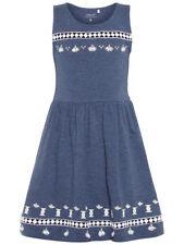 Name It NKFKILSA SL DRESS Kleid ärmellos Stickerei Vintage Indigo