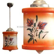 ArtDeco Lampe Hängelampe Spritzdekor orange Luster TOP