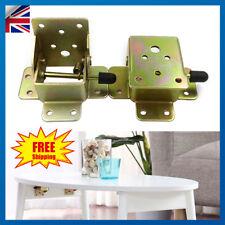 4Pcs Iron Folding Locking Table Chair Leg Brackets Hinges Self Lock 45x55x42mm