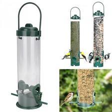 Hanging Type Outdoor Plastic Pet Soda Bottle Bird Feeder Bucket Tree Garden