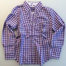Stockerpoint Bluse DERO lila 38 40 Tracht violett Karo Hemd Dame Lederhose Wiesn