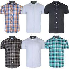 Mens ex Next Cotton Short Sleeve Shirt Checked Pinstripe Print Top RRP £25 S-XXL