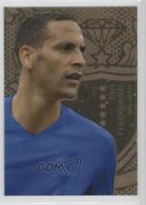 2011 Futera World Football Unique Gold #GLD09 Rio Ferdinand Soccer Card