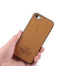 Handy Hülle für Iphone 5 5S SE in Holzoptik COVER Schutz  PC CASE Wood