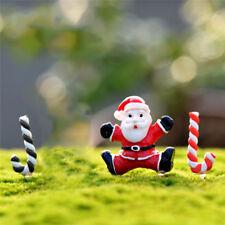 1/3 Kids Toy Micro Landscape Ornament Cute Resin Santa Claus and Crutch