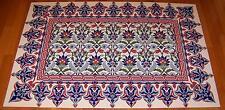 "Ottoman Iznik Style 32""x48"" (80cmx120cm) Turkish Ceramic Tile Floral PANEL MURAL"