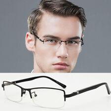 Men Business Fashion Eyeglass Frames Half Rimless Glasses Myopia Rx able