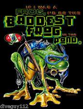Amphibious Outfitters T-shirt - Scuba Diving - Baddest Frog - Black - D0014B