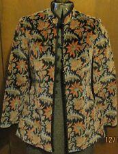 Velvet Women 3 Piece RETRO Party Suit 9 10 Skirt Vest Jacket Nehru PRISTINE!