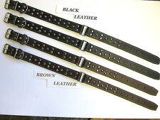 07 Two Pce Stud Leather Collar Shepherd Labrador Retriever Fit 45 to 58cm Neck