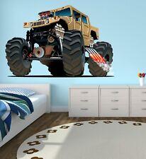 Monster Truck Wall Decal Kids Bedroom Art Playroom Decor Sticker Vinyl J383