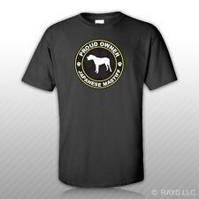 Proud Owner Japanese Mastiff T-Shirt Tee Shirt Free Sticker dog canine pet
