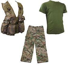 Kids Pack 6 HMTC MTP MultiCam match Pants, Action Army PLCE vest , Olive T-shirt