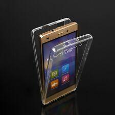 Custodia cover touch screen fronte retro in silicone copertura 360° per Samsung