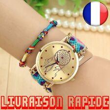 Montre Attrape Reve Tressé Dreamcatcher Amitié Bracelet Femme Corde Quarzt Mode