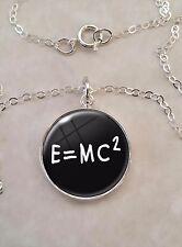 E=MC2 Mass Energy Equation Formula Math Einstein .925 Sterling Silver Necklace