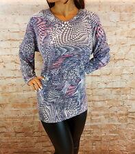 Pullover Bluse Tunika Oberteil Damen Pulli Langarm gestrickt Shirt Gr. 50-62