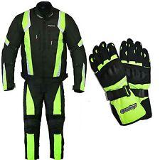 Rksports 1509 Moto Guantes Impermeables Amarillo Traje Pantalones Chaqueta CE para hombre
