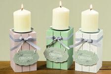 Kerzenleuchter Mila Merry Christmas to you Holz Metall versch. Farben