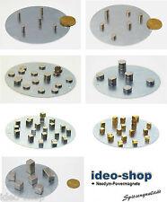 Neodym-Supermagnete - Sets mit runder Metallplatte zum Aufbewahren