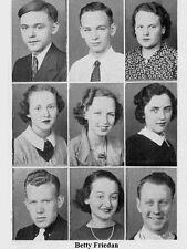 1930's Feminist Betty Friedan High School Yearbook ~ Photos~History~++++