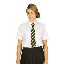 TRUTEX GIRLS SHORT SLEEVE BLOUSE SHIRT TWIN PACK SCHOOL UNIFORM WHITE SKY BLUE