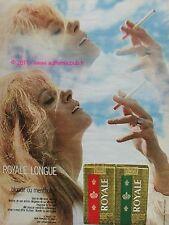PUBLICITE CIGARETTE ROYALE LONGUE MENTHE 1970 FRENCH AD
