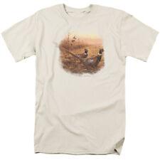 Wildlife First Alert Pheasants Mens Short Sleeve Shirt CREAM