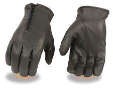 Men's Premium Unlined Leather Driving Glove w/ Zipper back 226D