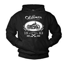 Biker Pulli mit Kapuze CHOPPER Pullover Kapuzenpullover MOTORRAD GESCHENK COOL