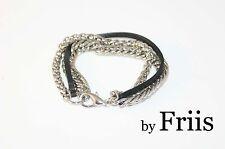 Armband by FRIIS *Multi Mix Bracelet AS is* Lederband + 2er Arm Kette *Neu
