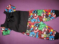 NEW Baby Girls Boys Black Marvel Superheros T shirt  leggings set Goth Rock Gift