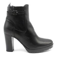 IGI & CO 2198800 NERO scarpe donna tronchetto stivaletti stivali pelle camoscio