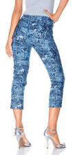 Mandarin Mujer 7/8 Pantalones Vaqueros Bouclé Chinos Poliéster azul 011852
