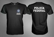 NEW MEXICO POLICE POLICIA FEDERAL BLACK TSHIRT Sz. S M L XL 2XL 3XL