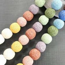 Lava Perle Kugel Bunt Mix 8 - 16 mm, 1 Stang #4573 BACATUS Edelstein