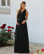 Maxi-Umstandskleid Abendkleid Chiffon schwarz   34 36 38 40 42 44 46       NEU