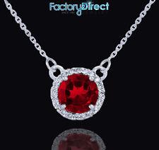 0ebe0f23c371 Collares y colgantes de joyería con diamantes de oro blanco rubí ...