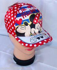 Minnie Disney cappello Premium con visiera Bambina Baseball tg 52 i 54 rosso