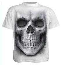 SPIRALE Diretta Teschio solenne Bianco T-Shirt, Biker / tatuaggio / Rock / metal / dark Wear Top