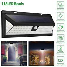 118/180Led Solar Power Motion Sensor Light Pir Outdoor Garden Security Wall Lamp