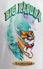 Big Kahuna Dogabunga Surfer Big Dogs Tee Shirt White LargeX 6X 100% Cotton