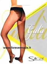 6 Collant donna Silca Galà, corpino sgambato con slip effetto pizzo art Galà 15